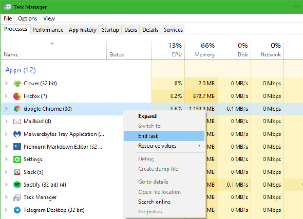 Windows Kill Task Manager Chrome